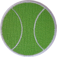 Tennis Ball Patch Embroidered Badge Iron Sew On Clothes T Shirt Jacket Dress Bag