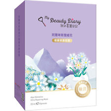 My Beauty Diary Alps Edelweiss MOISTURIZING FACIAL MASK 8PCS NEW ULTRA Repairing