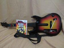 Guitar Hero World Tour Nintendo Wii 2008 - Wireless Sunburst Guitar Bundle NICE!