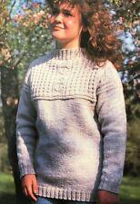"FU10 Knitting Pattern - Unisex Traditional Guernsey Jumper - Sizes 34-40"""