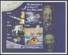 Espacio: Guyana 1999 30th aniversario de Apolo II alunizaje + MS (2) Y4871-82MNH