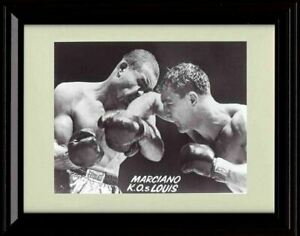 Framed Rocky Marciano K.O.s Lewis - Classic Moment Print