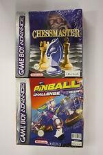jeu Nintendo Game Boy Advance  gba chessmaster+ pinball+lampe   neuf