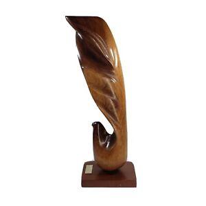 MIGUEL Estrella  MAHOGANY Bird  SCULPTURE  1996 SIGNED