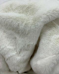 "Pottery Barn Kids Anywhere Bean Bag Slipcover 31"" Ivory Faux Fur NEW"