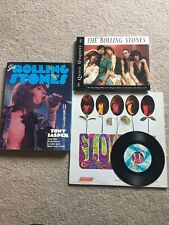 The Rolling Stones!!! Vintage Flowers Album, 2 Books & 45