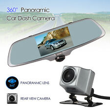 "Dual Cam 5""Touch Screen Car Dash Camera 360° Panoramic+Rearview Reversing Visual"