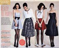 Strapless MINI DRESS Boned Bodice & SKIRT Prima Sewing Pattern 10 12 14 16 18 20