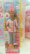 Barbie chef doll New African American cook doll with hat cake and plate
