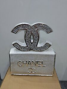 Crushed Crystal Diamond Bling Silver  Book Ornament  NEW