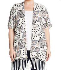 NEW Vince Camuto plus size 3X Marrakesh fringed kimono jacket, retail $144
