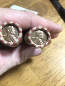 1955 D & 1954 D WHEAT Penny Rolls- 2 Rolls of 50