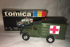 Vintage 1978 Tomy Tomica Toyota JASDF Ambulance - NEW Old Stock- Mint W/Orig Box