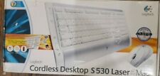 Logitech Cordless Desktop S 530 Mac Laser 967664-0403 Keyboard Rare