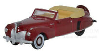 Oxford 1941 Lincoln Continental Maroon Die-Cast Metal Car 1/87 HO Scale