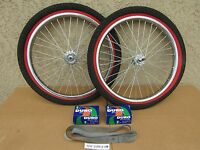 NEW BICYCLE 20'' x1.75 BMX HEAVY DUTY RIM SET WITH TIRES, TUBES, LINERS & SPROCK