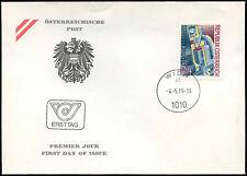 Austria 1978 motore a combustione Consiglio FDC primo giorno Coperchio #C 17676