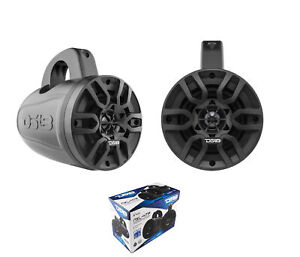 """Pair of DS18 4"""" 4 Ohm 300 Watts Marine Wakeboard Pod Tower Speakers NXL-4TP"""
