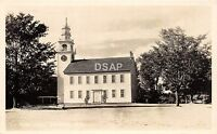 B9/ Jaffrey New Hampshire NH Real Photo RPPC Postcard c1940s Town Hall