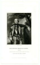 John Manners, Marquis Of Granby, British General/Horse Guards, Engraving (8186)