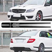 Streifen Seite Abziehbild BK Schwarz Auto DIY für Mercedes / Benz C Klasse W204