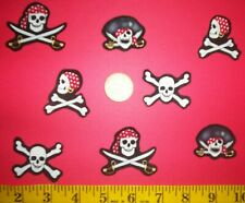 New! Pirate Skull and Crossbones Iron-Ons Fabric Appliques