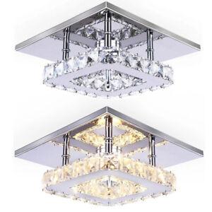 Led Crystal Ceiling Light Modern Chandelier Living Room Bulbs Pendant Lamp Hall
