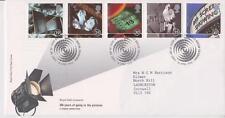 GB Royal mail FDC 1996 FOTO CINEMA Stamp Set Bureau PMK