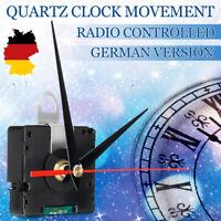 DCF Funkuhrwerk Uhr Uhrwerk DIY Kit + Rot Aluzeiger Wanduhr DE Signal Leise