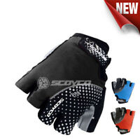 Cycling Gloves  Bicycle Bike Half Fingers Gloves Anti Skid Silicone Scoyco BG12