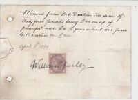 1899 Stamp Receipt Recd. From Mr Deakin Forty Four Pounds + Interest Ref 36063