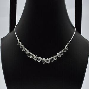 Beautiful Herkimer Diamond Crystal Clear Quartz Light Weight Necklace  ==== a24