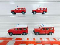 BX375-0,5# 4x Wiking 1:87/H0 PKW Mercedes-Benz/MB G-Klasse Feuerwehr/FW, TOP