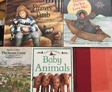 Lot Of 5 Children's Assorted Hardcover Books 4 With DJ VG Used