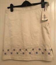 Glenmuir Ladies Tallulah Cotton Stretch Patterned Golf Skort size 8 cream new