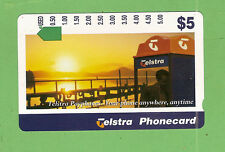 #D64. TELSTRA $5 USED PHONECARD- PAYPHONES, ANYWHERE, ANYTIME