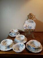 Lot of 5  Altrohla Austria China Custard Ramekin Cups w/ Saucers, Corn Flowers