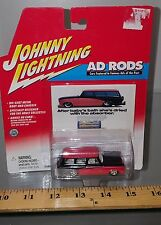 1/64 JOHNNY LIGHTNING AD RODS  1955 CHEVROLET NOMAD RED b84