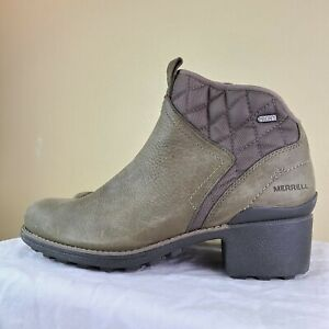 Merrell Chateau Mid lace J45540 Waterproof Leather Ankle Boots Women's SZ 9.5 M