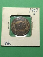 Canada 1907 H Edward Large One Cent From An Old Collection