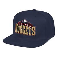 Men's Mitchell & Ness Navy NBA Denver Nuggets Team Ground HWC Snapback