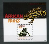 Tanzania Amphibians Stamps 2015 MNH African Frogs Poison Dart Frog 1v S/S II