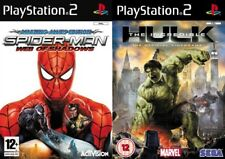 spiderman web of shadows & the incredible hulk    PS2  PAL FORMAT