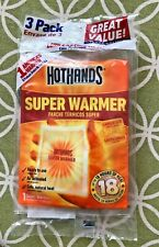 HotHands SUPER WARMER 3 Pack, Up to 18 Hours of Heat, Larger Size, Sealed 10/23