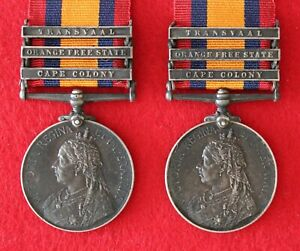 Queens South Africa Medal.  24418 J. Harvey.  Double issue to same soldier.