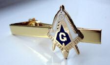 ZP26a Freemason Masonic Masons Tie Pin Bar  Clip Geometry Square Compass with G