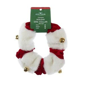 Holiday Velvet & Fur w/Bells Pet Scrunchie
