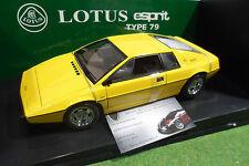 LOTUS ESPRIT Type 79 Jaune Yellow 1/18 AUTOart 75301 voiture miniature