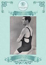 Cómo hacer una 1920s/30s Para Hombre Traje De Baño, Traje De Baño-Repro Tejer patrón