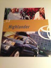 2003 Toyota Highlander 10-page Original Sales Brochure